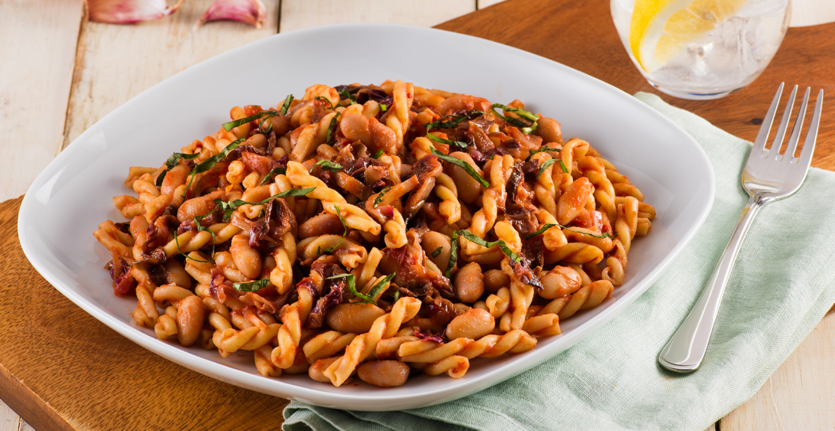 Gemelli with Calypso Bean and Crushed Tomato