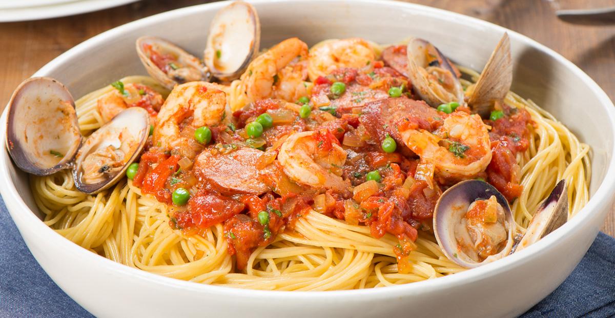 Gluten Free Spaghetti Paella