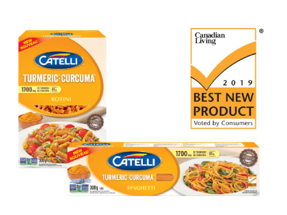 CATELLI TUMERIC WAS VOTED THE BEST NEW PASTA in 2019
