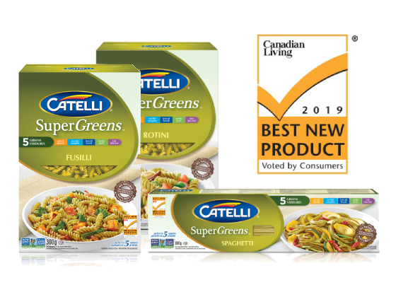 CATELLI SUPERGREENS WAS VOTED THE BEST NEW PASTA in 2017