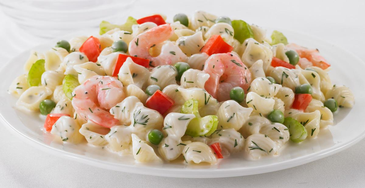 Pasta Shells And Shrimp Salad Catelli