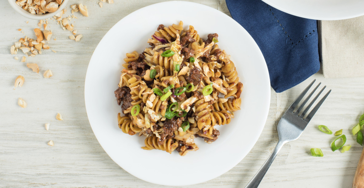 Honey Garlic Beef Pasta Toss
