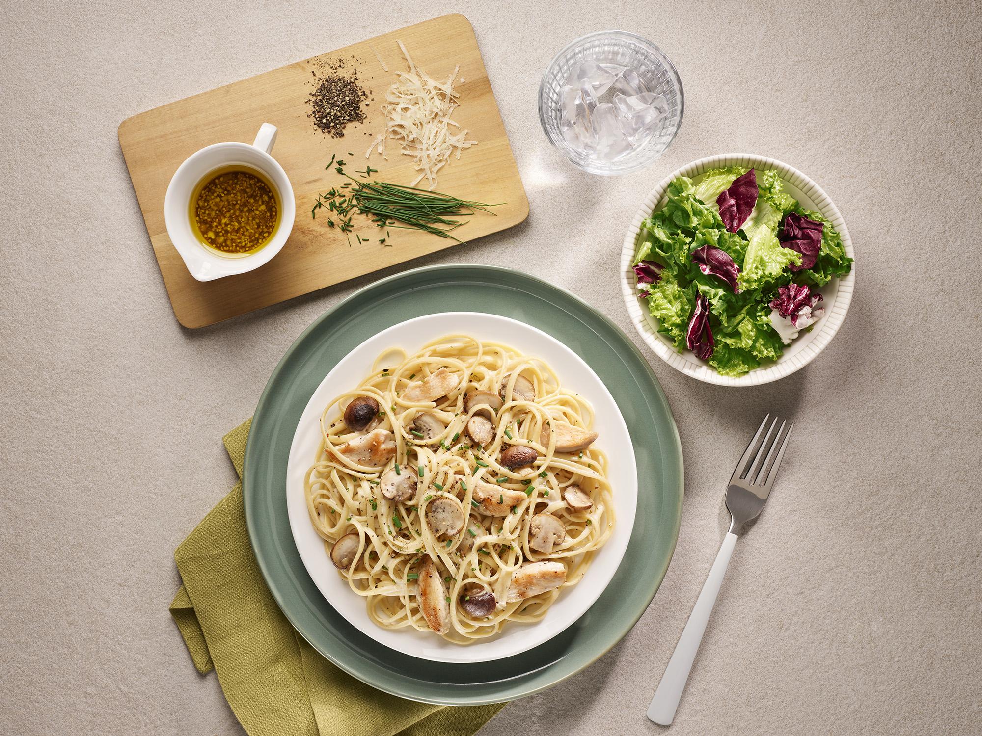 Chicken Mushroom Linguine Recipe