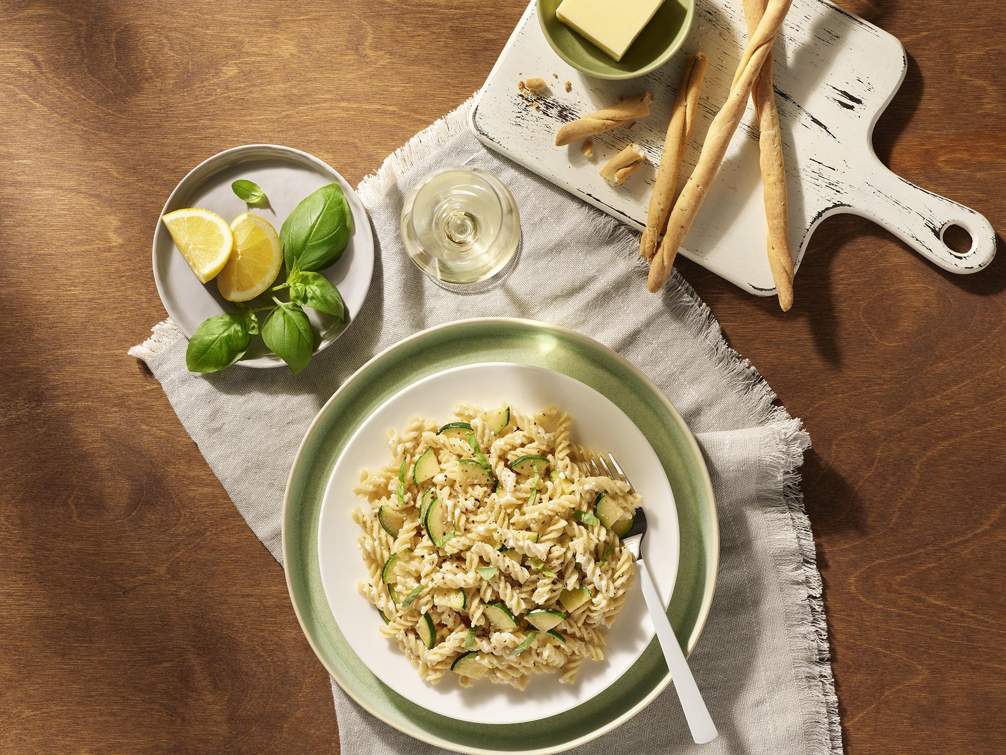 Fuzilli with Zuccini Ricotta Recipe